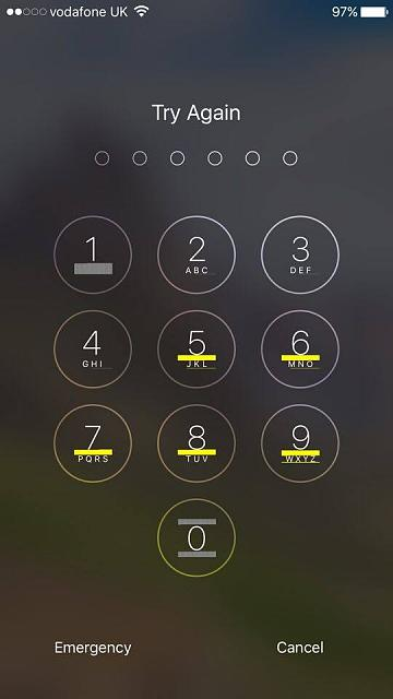 Why does the key code to unlock my iPhone suddenly have yellow lines?-13672520_10202113857643752_823740321_n.jpg