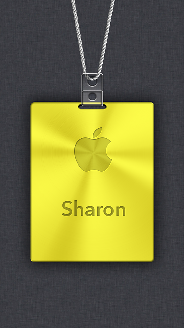iPhone 6/6s/7/8 Apple Nametag Wallpaper-8.png