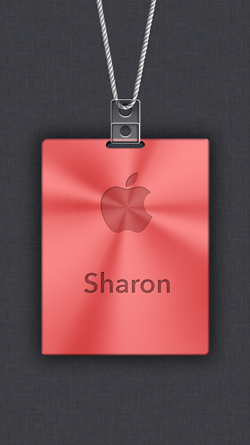 iPhone 6/6s/7/8 Apple Nametag Wallpaper-10.png