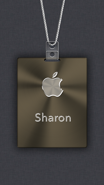 iPhone 6/6s/7/8 Apple Nametag Wallpaper-11.png