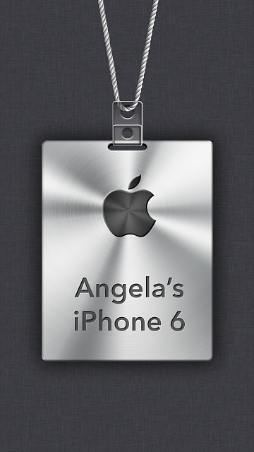 iPhone 6/6s/7/8 Apple Nametag Wallpaper-14.png