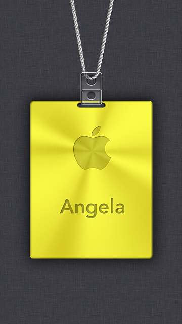 iPhone 6/6s/7/8 Apple Nametag Wallpaper-9.png