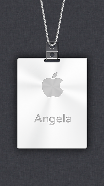 iPhone 6/6s/7/8 Apple Nametag Wallpaper-7.png