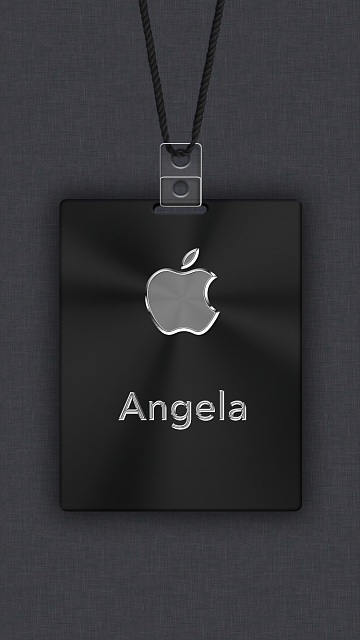 iPhone 6/6s/7/8 Apple Nametag Wallpaper-17.png