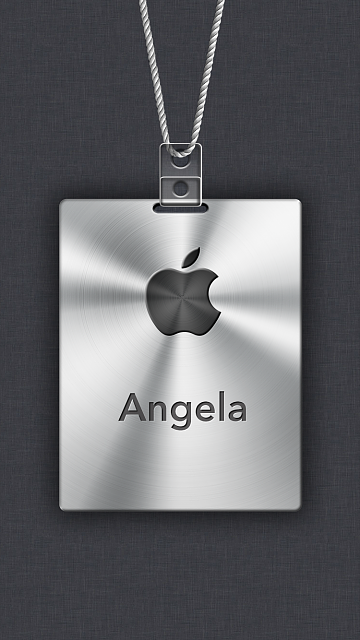 iPhone 6/6s/7/8 Apple Nametag Wallpaper-16.png