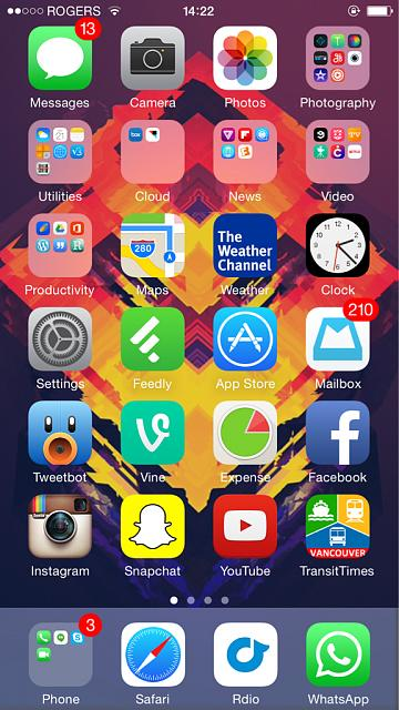 iphone 6 home screen show us your iphone 6 homescreen iphone ipod 14983