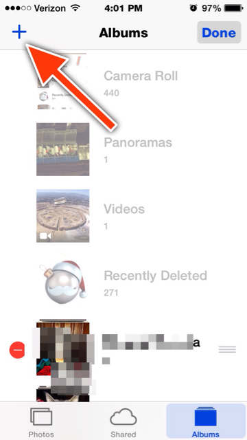 how to make a photo album on iphone