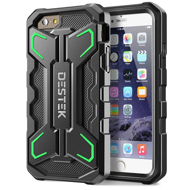 iphone 6 case destek wing series case for iphone 6 4 7 inch all around protective stand case. Black Bedroom Furniture Sets. Home Design Ideas