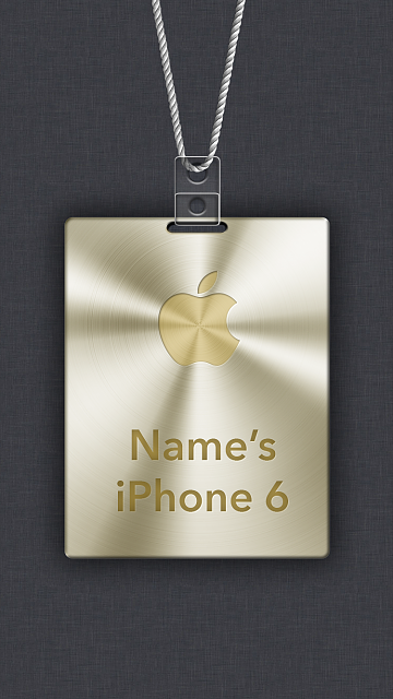 iPhone 6/6s/7/8 Apple Nametag Wallpaper-6.png