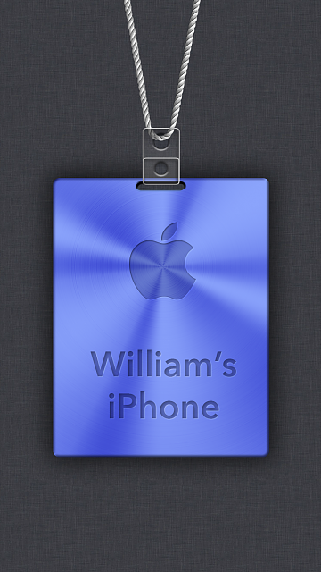 iPhone 6/6s/7/8 Apple Nametag Wallpaper-2.png