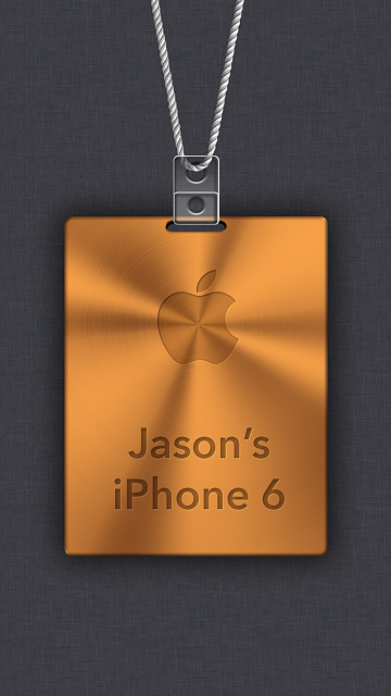 iPhone 6/6s/7 Apple Nametag Wallpaper-8.png