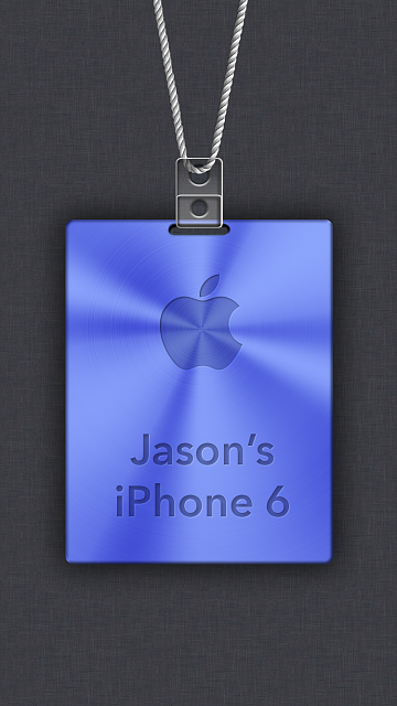 iPhone 6/6s/7 Apple Nametag Wallpaper-14.png