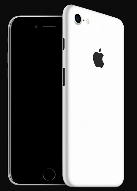 White iphone back