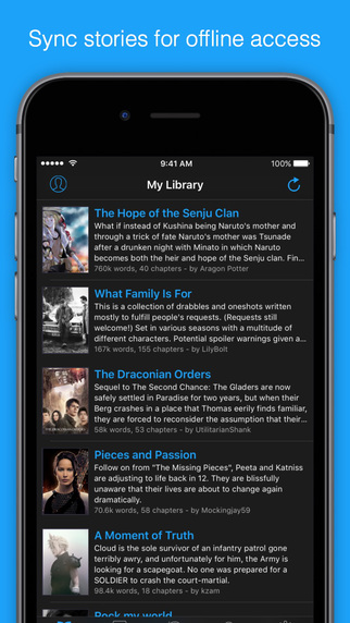 FanFiction Plus - Millions of stories in your pocket-screen322x572.jpg