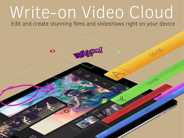 Write-on Video Cloud - Create Movie and Script - (An universal app for video editing)-ipad_pro_english_01.jpg