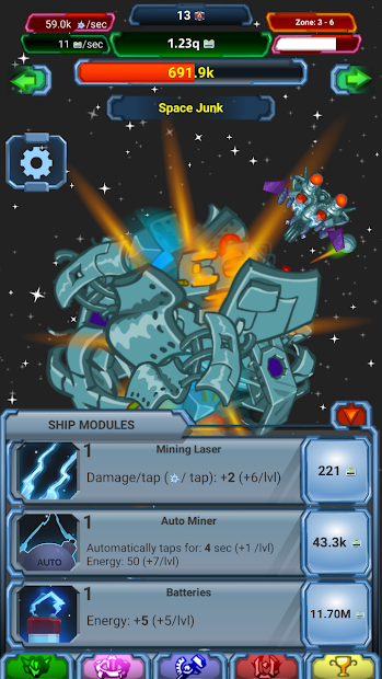 Tap, Click 'n Destroy – Idle Space Ship Simulator - iPhone, iPad