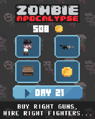 Zombie Apocalypse: shooter war - new survival game for Apple watch by Cakeogame-scr2.png