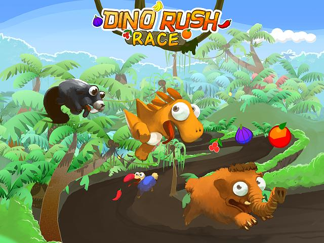 Introducing Dino Rush Race - mobile runner game for iOs-screenshot_1_preview.jpg