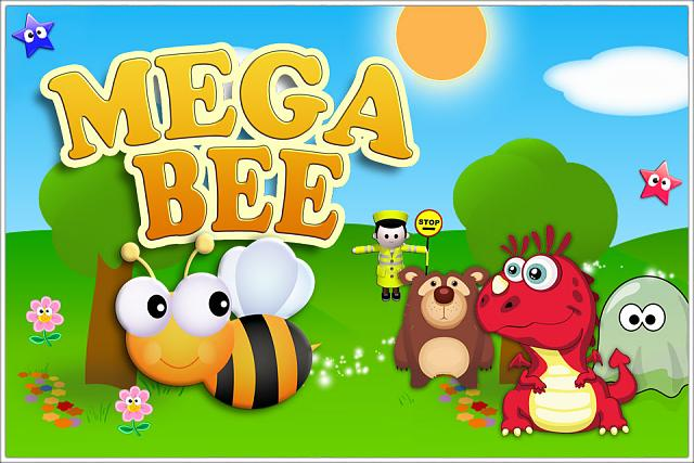 Mega Bee - Fast collection arcade game. My FREE debut indie title!-ss-title.jpg