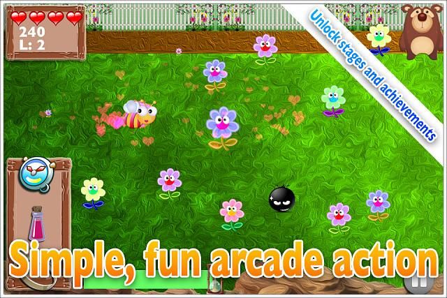 Mega Bee - Fast collection arcade game. My FREE debut indie title!-ss-garden.jpg