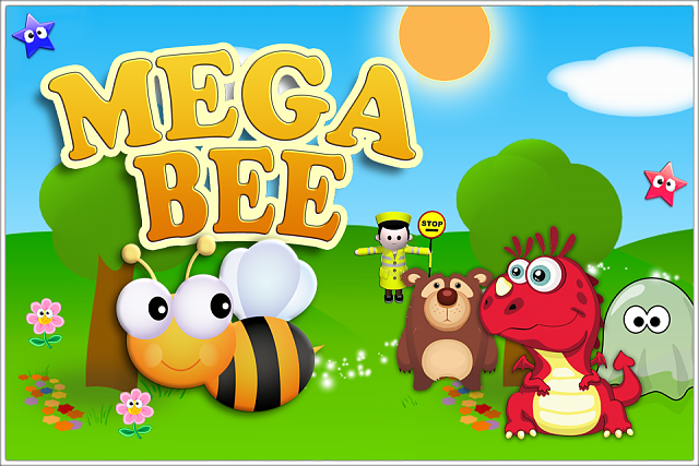 Mega Bee - Fast collection arcade game. Debut indie title FREE!-ss-title.png