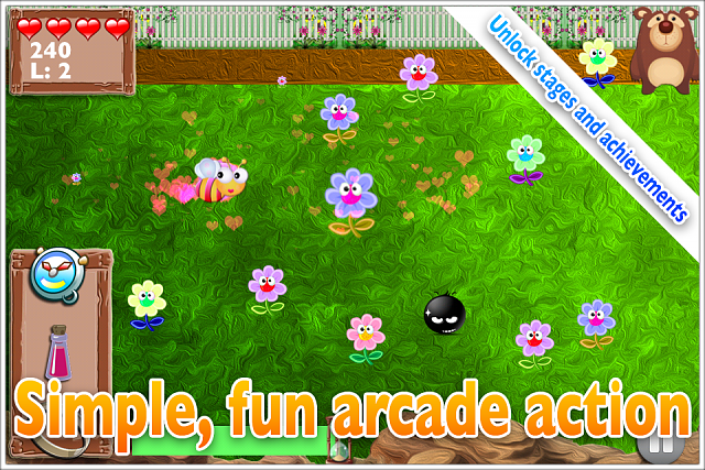 Mega Bee - Fast collection arcade game. Debut indie title FREE!-ss-garden.png