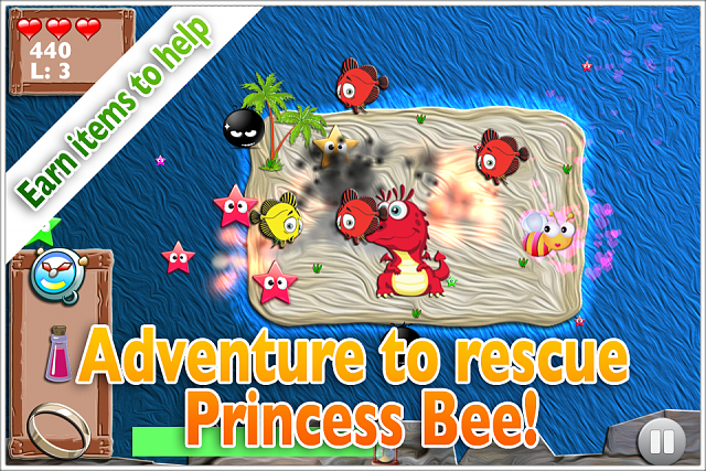 Mega Bee - Fast collection arcade game. Debut indie title FREE!-ss-island.png