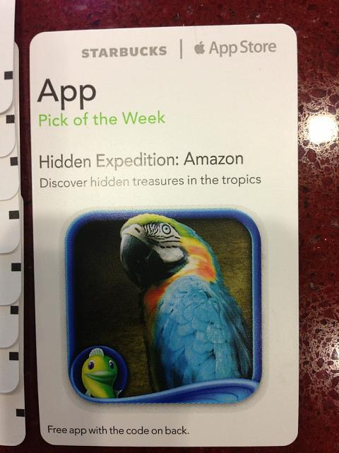 Hidden Expedition: Amazon courtesy of the Starbucks Pick of the Week-imageuploadedbytapatalk1351784040.349229.jpg