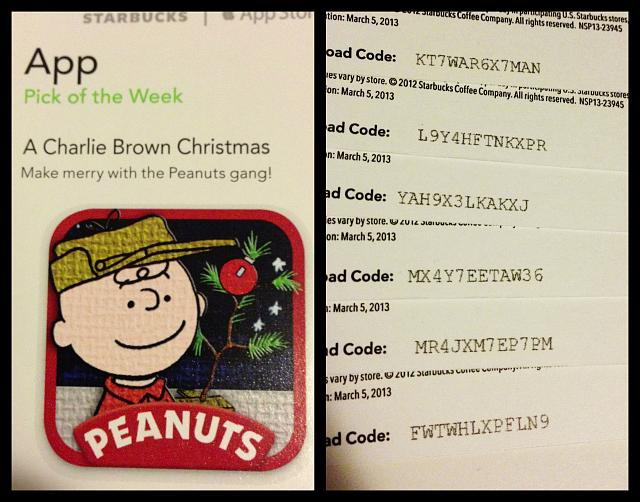 Peanuts: A Charlie Brown Christmas promo codes courtesy of Starbucks App of the Week-photo-dec-17-9-52-17-pm.jpg