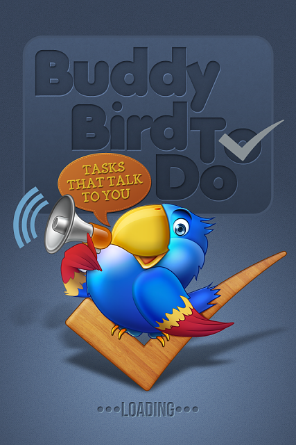 new app Buddy Bird ToDo - First talking todo app for iPhone now in appstore (App Store)-splash-screen.png