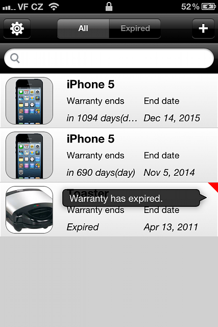WarrantyList for iPhone/iPad (iOS 5+) - warranty sheets recording-img_0757.png