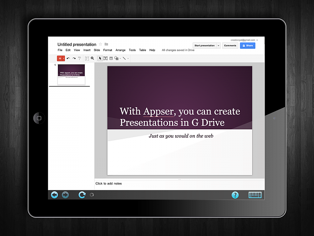 Appser for Google Docs - runs web Google Docs on your iPad-appser-screenshot-1.png