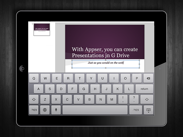 Appser for Google Docs - runs web Google Docs on your iPad-appser-screenshot-2.png