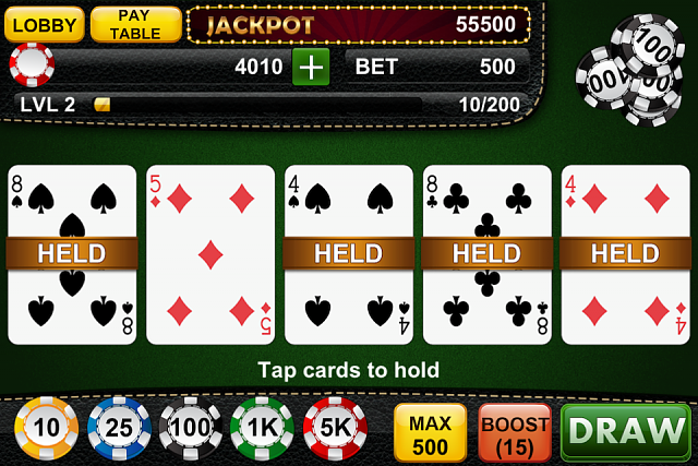 Video Poker Jackpot - iPhone/ iPad game-video-poker-jackot-3.png