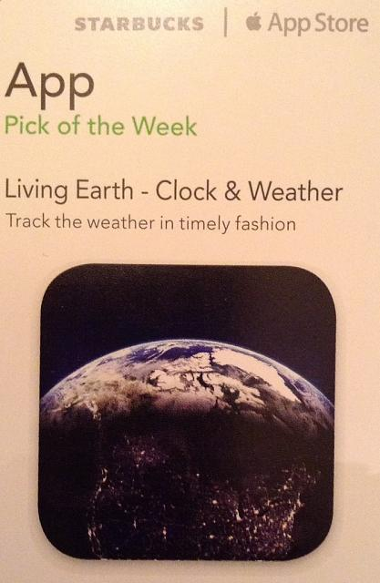 Living Earth promo codes courtesy of Starbucks App of the Week-imageuploadedbytapatalk1361582721.137659.jpg