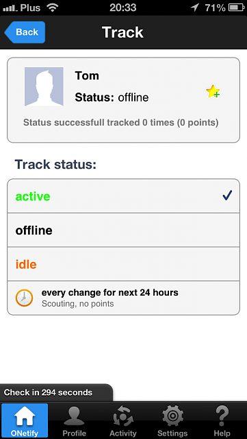 ONetify for iPhone - check the status of your Facebook & Google+ friends [PROMO CODES]-ip5_track.png