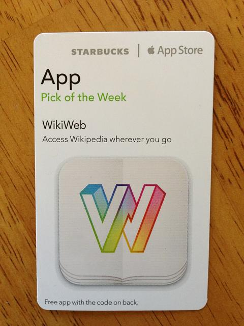 WikiWeb promo codes courtesy of Starbucks App of the Week-imageuploadedbytapatalk1364097111.440764.jpg