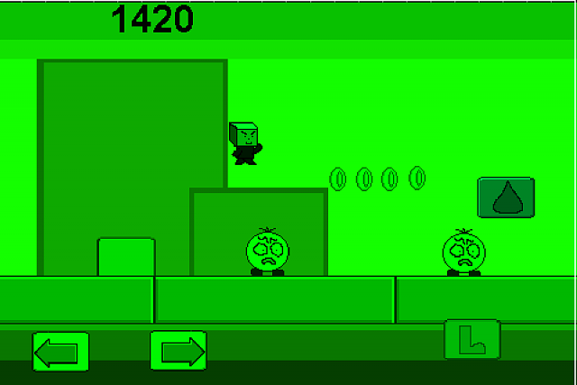 Atomic 2D Platformer - the best Super Mario Type Iphone Game avalible-monochrome-gameboy-type-level.png