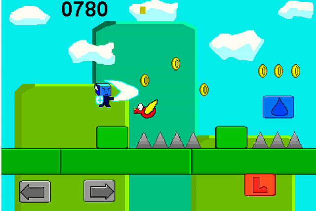 Atomic 2D Platformer - the best Super Mario Type Iphone Game avalible-use-your-sword-slash-enemies.png