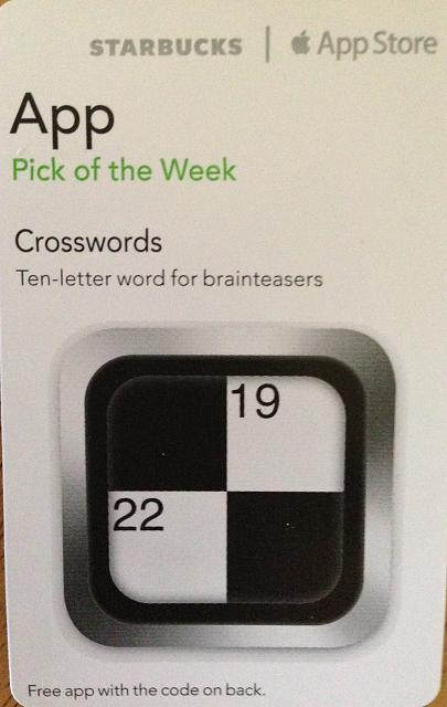 Crosswords promo codes courtesy of Starbucks App of the Week-img_0760.jpg