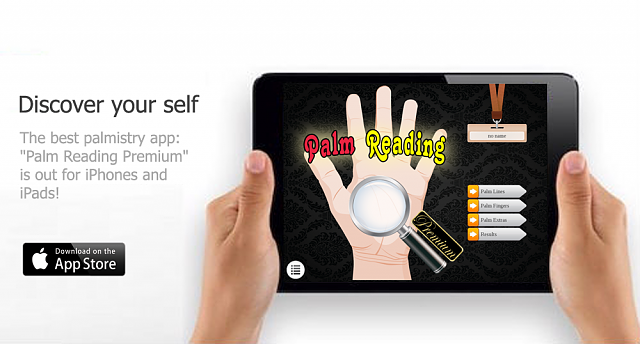 [New App] Discover your self! 'Palm Reading Premium' is out.-palm_reading_ipad.png