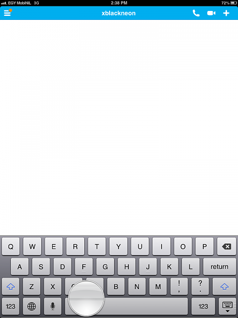 Keyboard overlapping the text entry field in few apps as Skype-photo.png