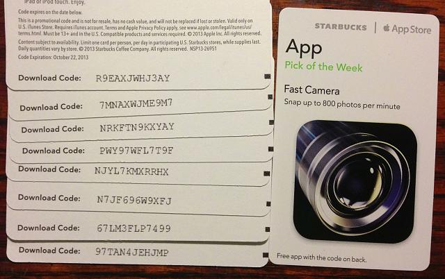 Fast Camera promo codes courtesy of Starbucks App of the Week-img_5308.jpg
