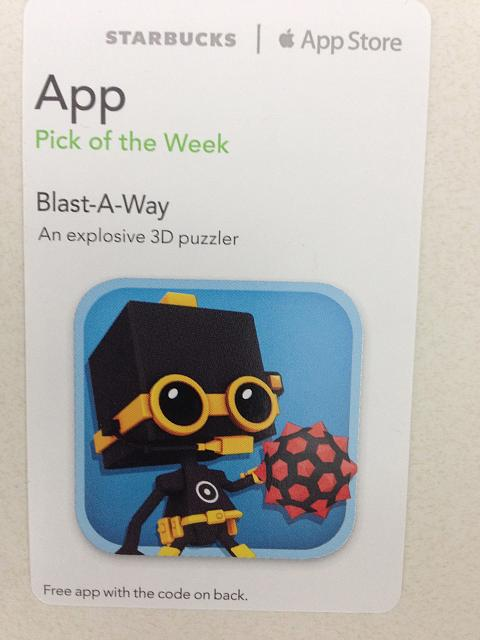 Blast-A-Way promo codes courtesy of Starbucks App of the Week-img_1925.jpg