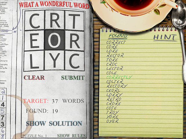 New Word Game for iOS-wonderful_finding.png