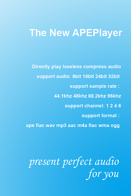 Play loseless compress audio on iPhone(APE File,FLAC File),APEPlayer is best-welcome-2x.png