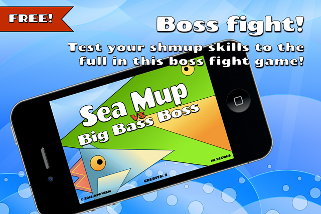 NEW! A challenging boss fight Cute Em Up for iPhone-sea-mup-vs-big-bass-boss-screenshot1.png