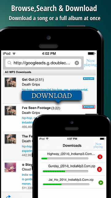 iGetMusic : Free music downloader and Music Player app ( FREE for next 24 Hrs)-3.png
