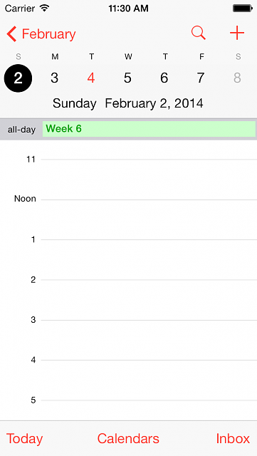 Week numbers for ever:  completes the iOS 7.1 calendar-iphone5_03.png