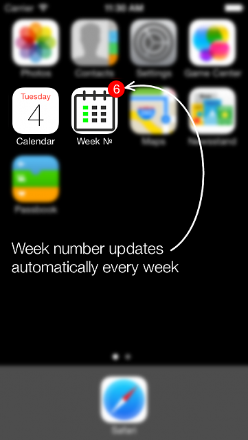 Week numbers for ever:  completes the iOS 7.1 calendar-iphone5_04.png
